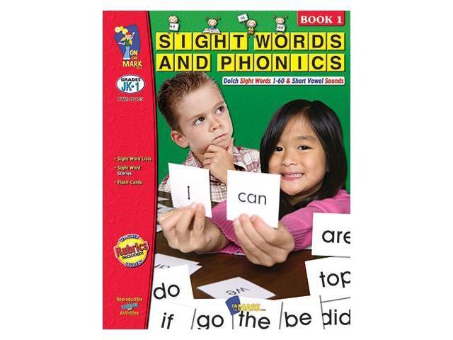 On The Mark OTM18105 Sight Words Phonics Book 1 Gr Pk-1