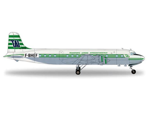 Herpa 1-200 Scale Military HE554015 Transports Aeriens Intercontinentaux DC-6B 1-200