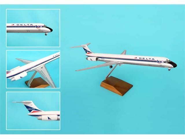 Skymarks Supreme SKR8602 Delta MD-80 1-100 Widget Livery with Wood Stand and Gear