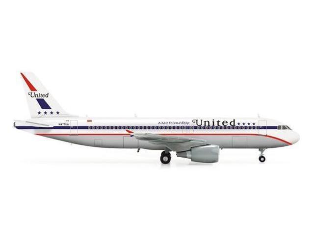 Herpa 200 Scale COMMERCIAL-PRIVATE HE554671 United A320 1-200 85TH Anniversary Friendship Livery