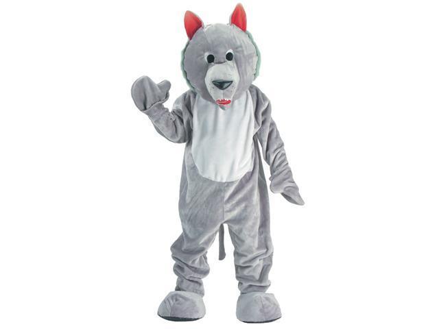 Dress Up America 301-Adult Hungry Wolf Mascot Costume Set - Size Adult