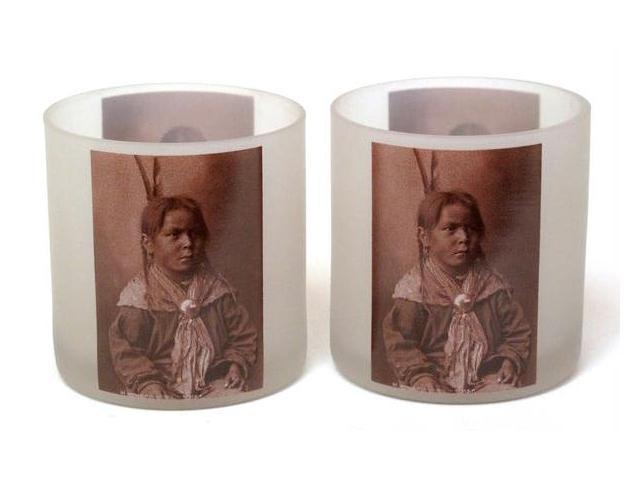 WesternWare Glass Candle Holder Set of 2