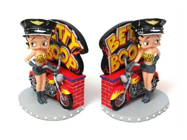 IWDSC 0179-26416 Betty Boop Biker Bookends with Resin Individually Hand Crafted and Hand Painted