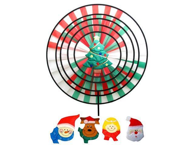 IWDSC 0172-0426 46'' x 25'' x 14'' Christmas Five Ring Wind Wheel