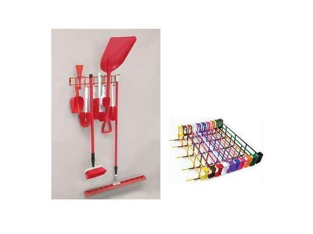 Horizon Manufacturing 4047 26 in. 12-Hook Utility Rack - Pink