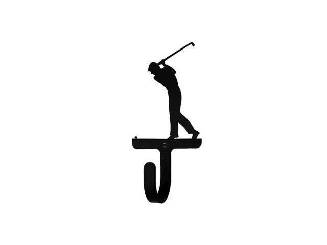 Village Wrought Iron WH-135-S Golfer Wall Hook Small - Black
