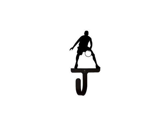 Village Wrought Iron WH-179-S Basketball Player Wall Hook Small - Black