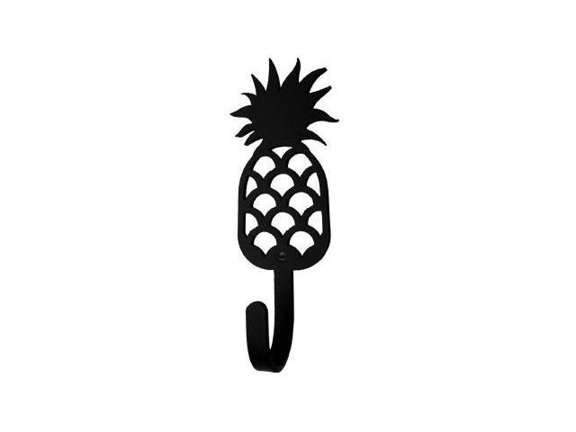 Village Wrought Iron WH-44-S Pineapple Wall Hook Small - Black