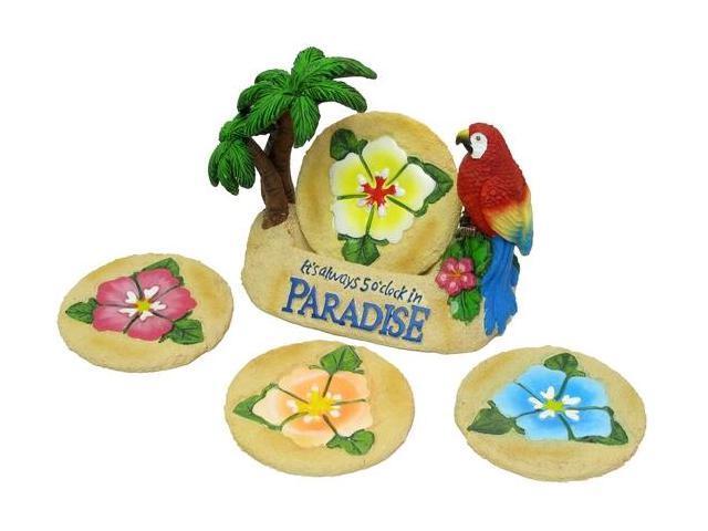 IWGAC 049-29795 Paradise Parrot Coaster 5pc Set