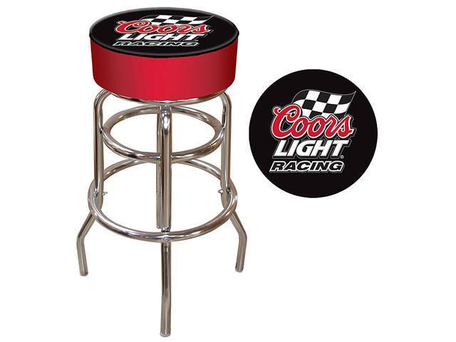 Coors Light Racing Logo Padded Bar Stool