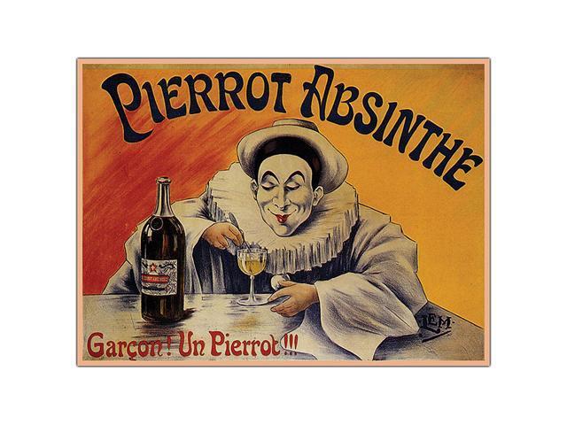 Pierrot Absinthe Garcon By L.E.M.- 18x24 Canvas Art