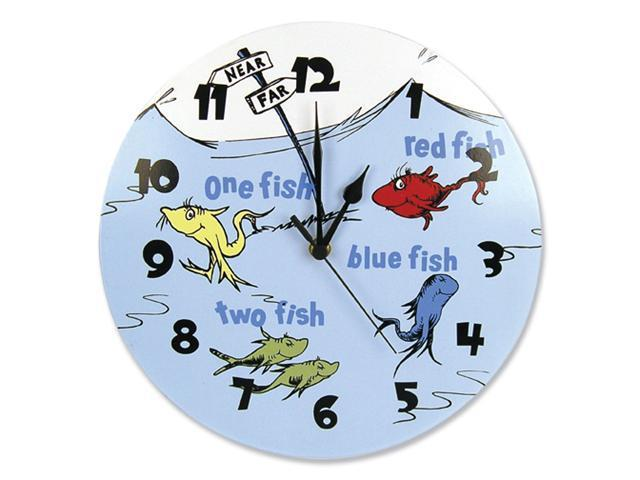 Trend Lab 30198 Wall Clock - Dr. Seuss One Fish Two Fish