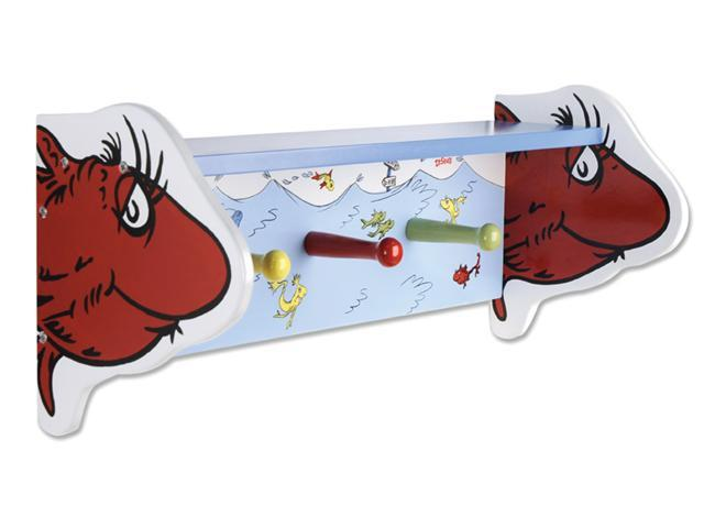 Trend Lab 30161 Dr. Seuss Cat In The Hat -Shelf With Pegs