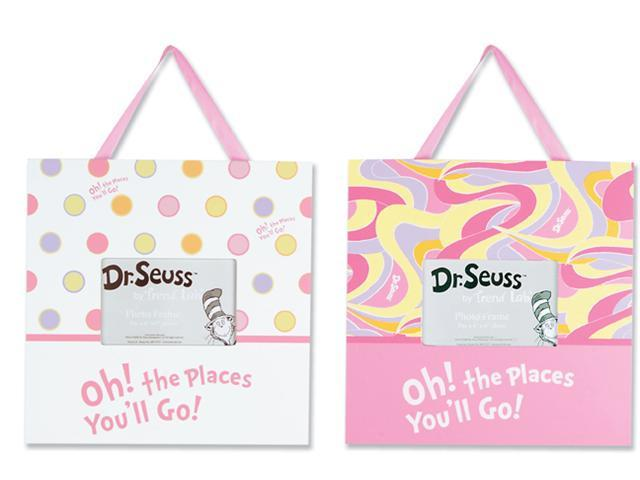 Trend Lab 30358  Frame Set - Dr. Seuss Oh The Places You'Ll Go - Pink