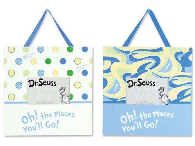 Trend Lab 30378  Frame Set - Dr. Seuss Oh The Places You'll Go - Blue