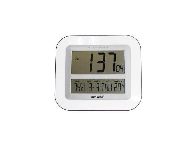 Sonnet T-4680 Atomic LCD Wall Clock with Temperature Date Humidity