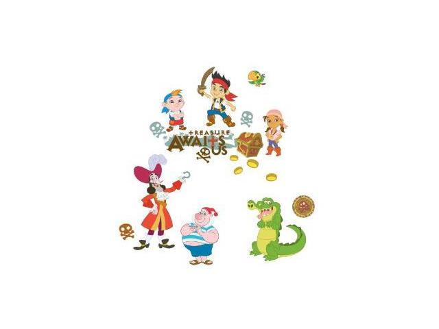 RoomMates RMK1778SCS Jake and the Neverland Pirates Peel & Stick Wall Decals
