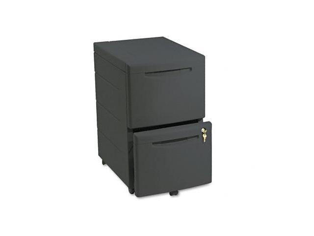 Iceberg 95411 Aspira Underdesk Mobile Pedestal File with Two File Drawers  16-1/2  w  BLK