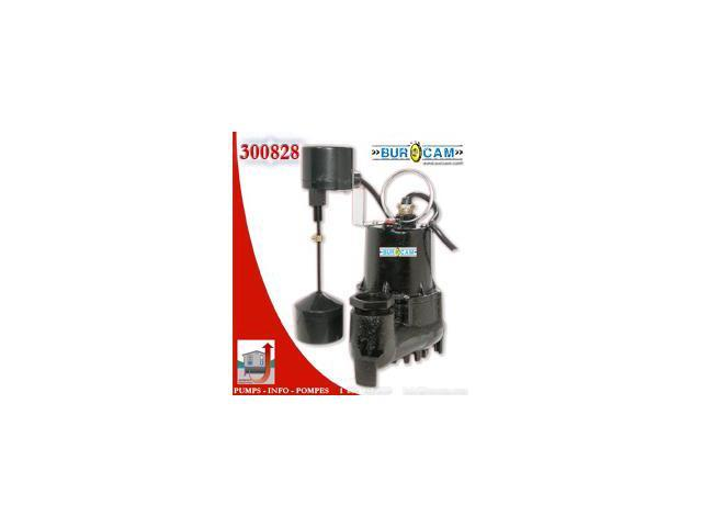 Bur-Cam Pumps 300828 .33 HP Sump Pump with Vertical Switch
