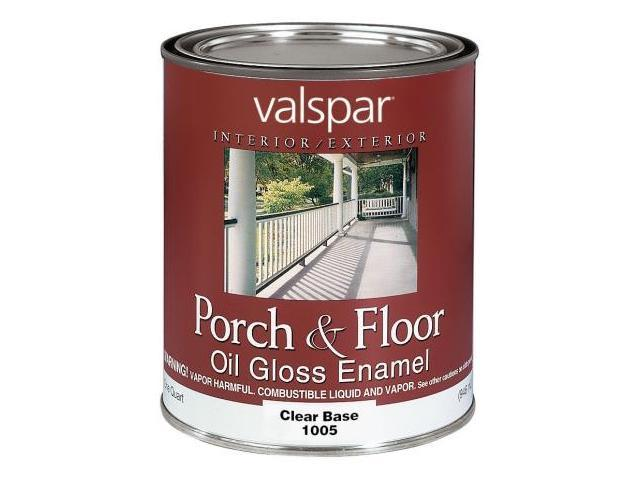 Valspar brand 1 quart clear base porch floor oil enamel paint 27 1005 qt Oil based exterior paint brands
