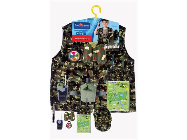 Dress Up America 702 Military Forces Role Play Dress Up Set - Ages 3-7