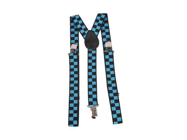 Dress Up America 600 Blue Checkerboard Suspenders