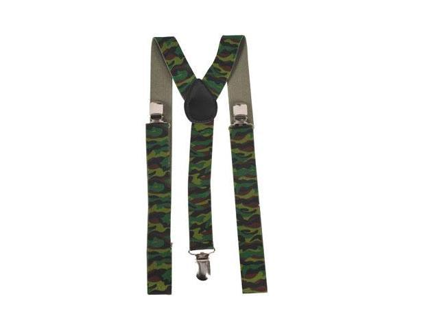Dress Up America 605 Camouflage Suspenders