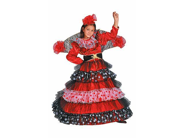 Dress Up America 497-T4 Flamenco Dancer - Size Toddler T4