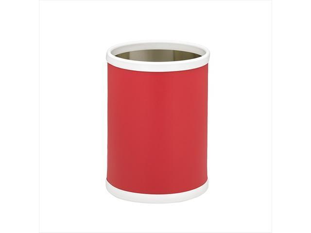 Kraftware 10748 B.C. Red 10 Inch Round Waste Basket
