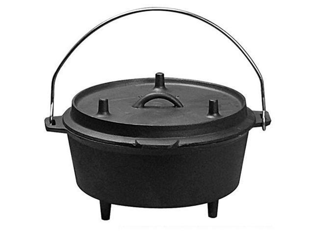Universal PS193 Pre-Seasoned Cast Iron Camping Dutch Oven