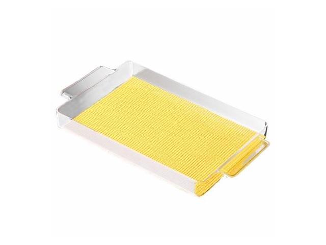 Kraftware 11629 Fishnet Rect. Handled Galery Tray 20 In. X 11.5 In. New Yellow
