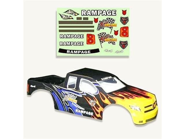 Redcat Racing 50904 .20 Truck Body Black Flame