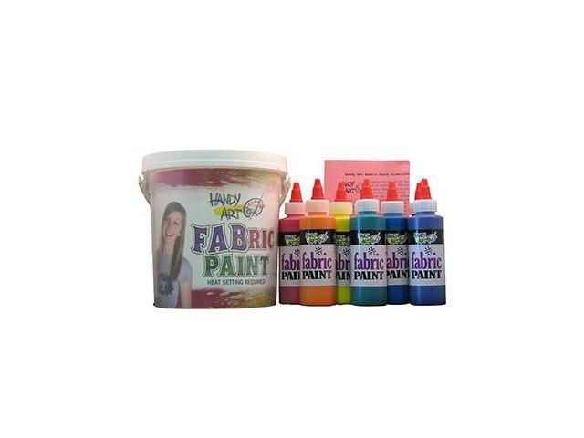 Rock Paint / Handy Art RPC885060 Handy Art Fabric Paint Bucket Kit 9 - 4Oz Bottles