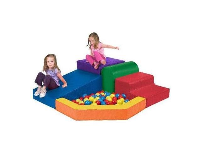 Early Childhood Resource ELR-0833 SoftZone Primary Climber with Ball Pool