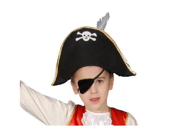 Dress Up America H323 Foldable Pirate Hat - Kids
