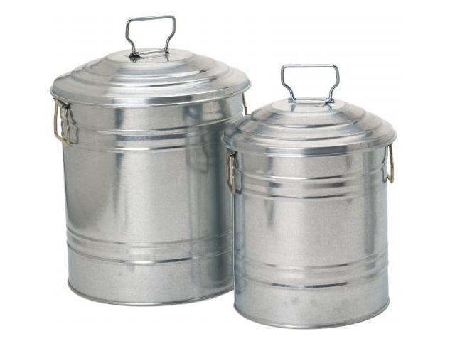Houston International 2 Piece Galvanized Container Set  6515 S-2 - Pack of 4
