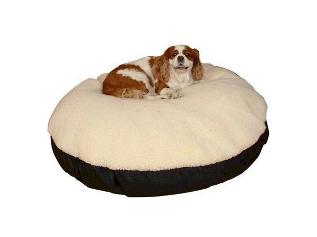 Snoozer SN-91203 Snoozer Round Sherpa Top Dog Bed - Medium-Khaki