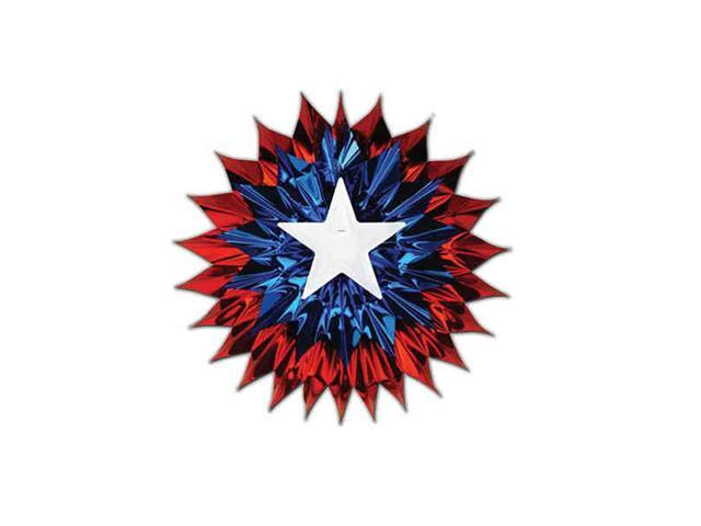 Beistle - 50518-RWB - Patriotic Fan-Burst- Pack of 12