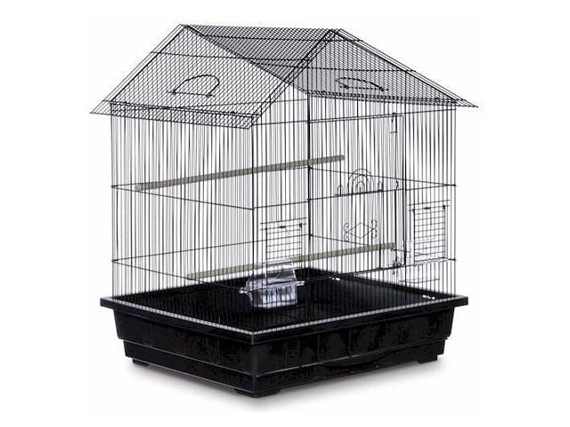 Prevue Hendryx Offset Roof Cockatiel Cage Black - SP25211B-B