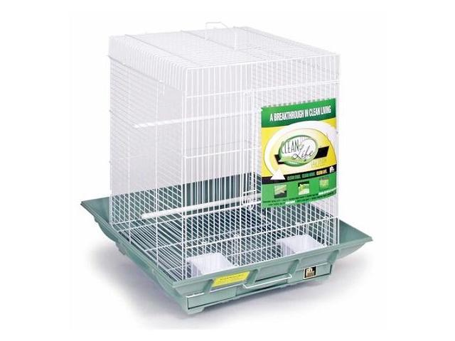 Prevue Hendryx PP-850withW Clean Life Small Flight Cage - White