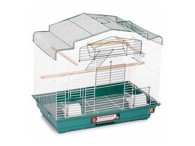 Prevue Hendryx Barn Style Bird Cage Green and White - SP41618-2