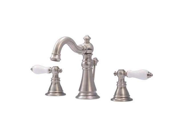 Kingston Brass FS1978APL Fauceture FS1978APL American Patriot Two Handle Widespread Lavatory Faucet, Satin Nickel