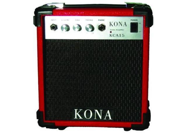 Kona KCA15RD 10 Watt Amplifier 5 in. Speaker 1 Input - Red