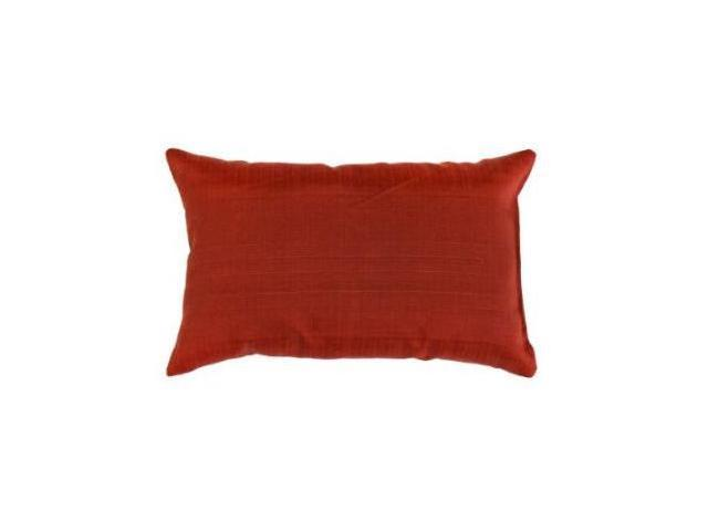 Greendale Home Fashions OC5811S2-SALSA Rectangle Outdoor Accent Pillows, Set of Two, Salsa