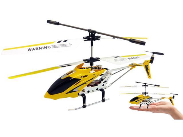 JP Commerce s107g-yellow 3ch Syma S107G Mini RC Helicopter Metal Series with Gyro - Yellow
