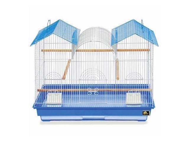 Prevue Hendryx Triple Roof Bird Cage Blue & White - SP1804TR-1