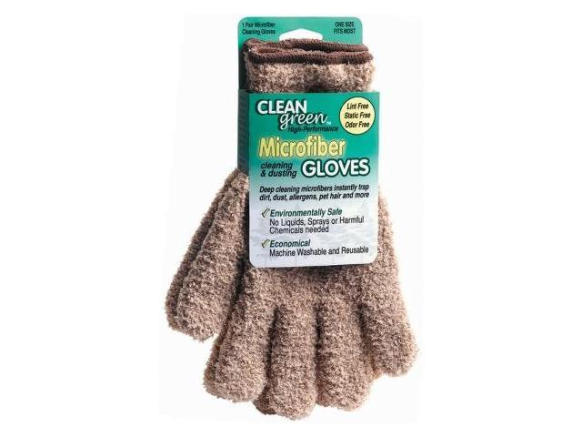 CleanGreen Microfiber Cleaning and Dusting Gloves Pair