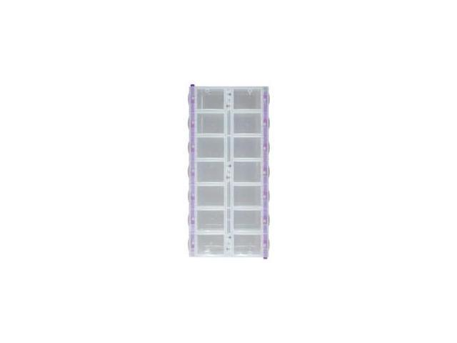 Craftmates 430773 Craft Mates Lockables Double Organizer 9.25 in. x 4.25 in. x 1.25 in. -14 Compartments