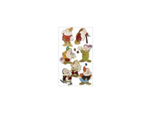 Jolees 300295 Disney Princess Movie Dimensional Stickers-Snow White-The Seven Dwarves