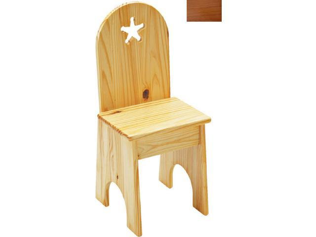 Little Colorado 022HOST Solid Back Star Kids Chair in Honey Oak